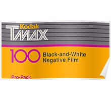 Camera Film Kodak TMax Vintage Film Poster