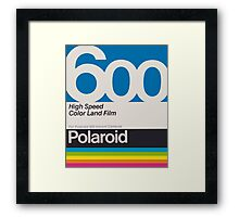 Polaroid Film 600 Design Framed Print