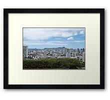 Honolulu Skyline Framed Print