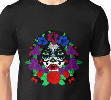 Sugar skull green eyes Unisex T-Shirt