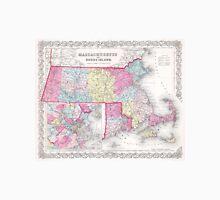 Vintage Massachusetts and Rhode Islands Map (1855) Unisex T-Shirt