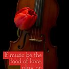 If music be the food of love play on by Edward Fielding