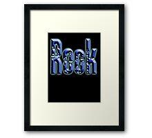 Rock, Rock & Roll Music, Rock it! Rock band, Rockers, on BLACK Framed Print