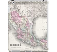 Vintage Map of Mexico (1855)  iPad Case/Skin