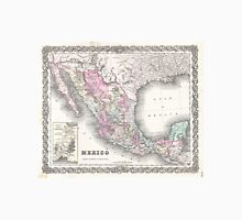 Vintage Map of Mexico (1855)  Unisex T-Shirt
