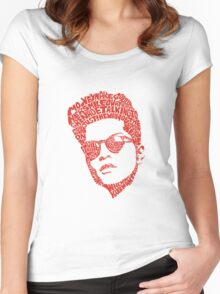 bruno mars thypography RC Women's Fitted Scoop T-Shirt