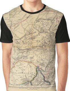 Map Of South Africa 1875 Graphic T-Shirt