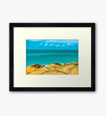 Dunes and Ocean Jericoacoara Brazil Framed Print