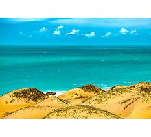 Dunes and Ocean Jericoacoara Brazil Photographic Print
