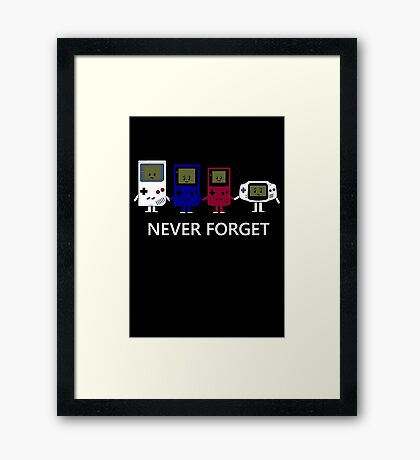 Classic handheld consoles Framed Print