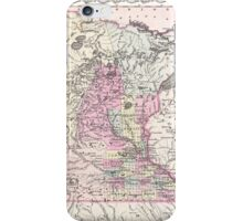Vintage Map of Minnesota (1855) iPhone Case/Skin