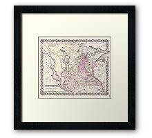 Vintage Map of Minnesota (1855) Framed Print