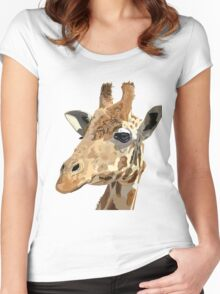 Proud Giraffe  Women's Fitted Scoop T-Shirt
