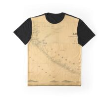 Map Of Liberia 1850 Graphic T-Shirt