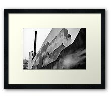 Graffiti - Shipping Containers, Fog, & Copenhagen Framed Print