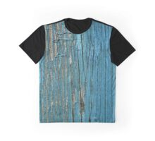 Rustic wood effect shabby print in turquoise Graphic T-Shirt
