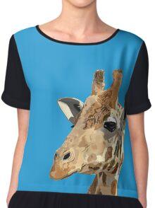 Proud Giraffe  Chiffon Top