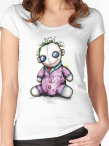 Evil Creepy Clown Doll Women's Fitted Scoop T-Shirt