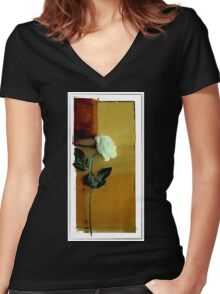 Postcard # 1 Women's Fitted V-Neck T-Shirt