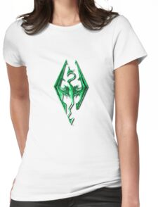 Skyrim Green Glass Womens Fitted T-Shirt