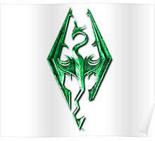Skyrim Green Glass Poster