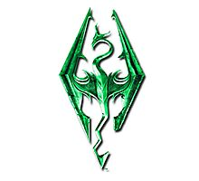 Skyrim Green Glass Photographic Print