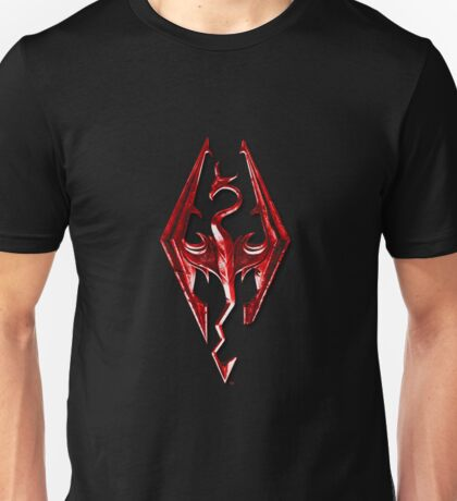 Skyrim - Red Unisex T-Shirt