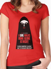 A Girl Walks Home Alone At Night! Women's Fitted Scoop T-Shirt
