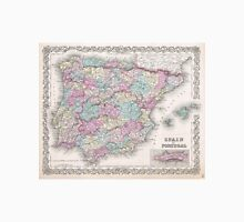 Vintage Map of Spain (1855)  Unisex T-Shirt