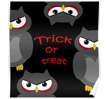 Trick or treat - owls   Poster