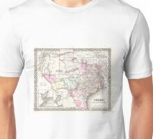 Vintage Map of Texas (1855)  Unisex T-Shirt