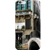 Bridge to the trattoria, Venice,Italy iPhone Case/Skin