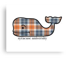 Syracuse Plaid Vineyard Vines Whale  Canvas Print