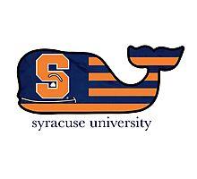 Syracuse University Flag Vineyard Vines Whale  Photographic Print