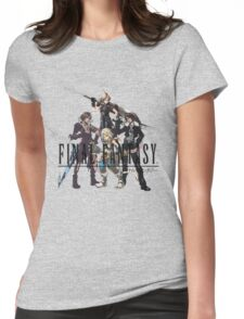 Final Fantasy Characters Womens Fitted T-Shirt