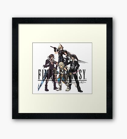Final Fantasy Characters Framed Print