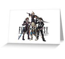 Final Fantasy Characters Greeting Card