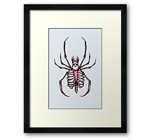 Black Widow Spider Skeleton Framed Print