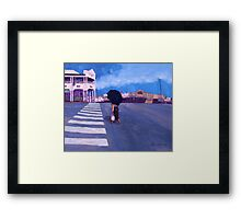 The Whitehorse and Wally's Framed Print