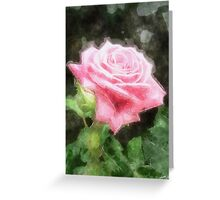 Pink Roses in Anzures 3 Watercolor Greeting Card