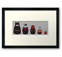 Nesting Bats Framed Print