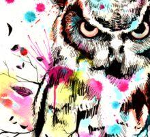Owl Tree Watercolor Sticker