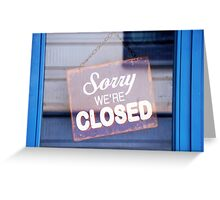 Closed  Greeting Card