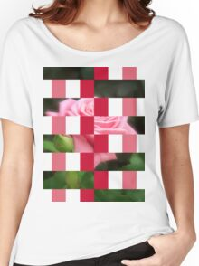 Pink Roses in Anzures 3 Art Rectangles 15 Women's Relaxed Fit T-Shirt