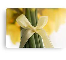 Ribbon Tied Daffodils Metal Print