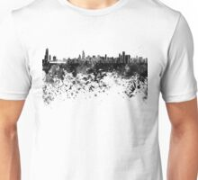 Chicago skyline in black watercolor Unisex T-Shirt