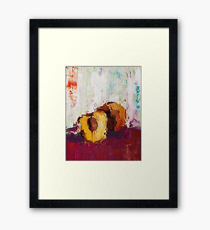Peach Pit Framed Print
