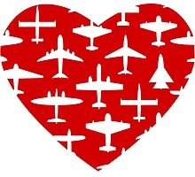 I Heart Planes by cheekydesigns