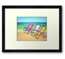 Beach-Side Framed Print