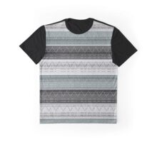 Morse Code Grey Pattern Graphic T-Shirt